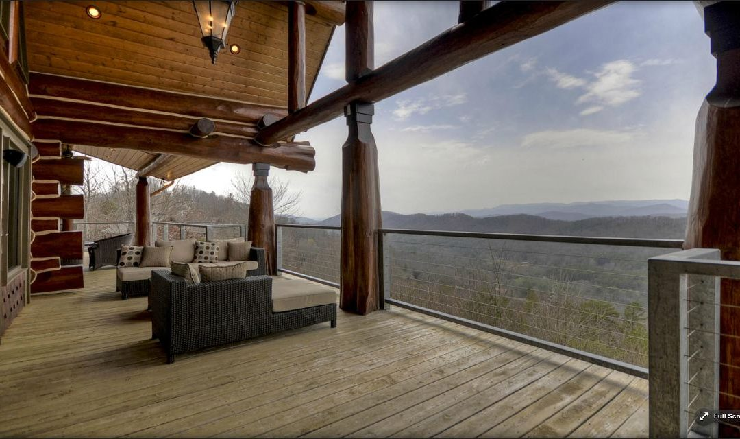 """Arresting and Majestic """"King of the Hill"""" Home for Sale in Blue Ridge"""